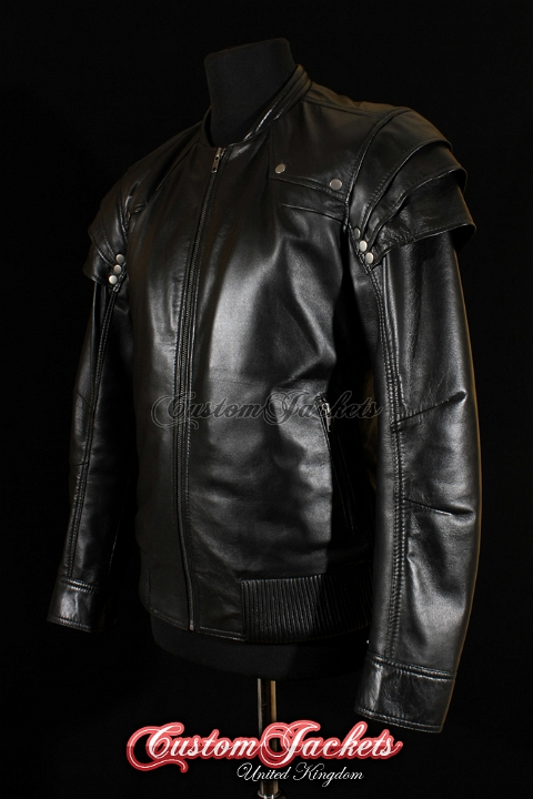 Men's WITCH HUNTER Black Lambskin Leather Gothic Film